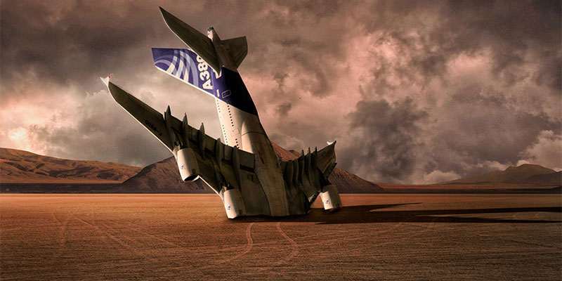 Plane in the desert