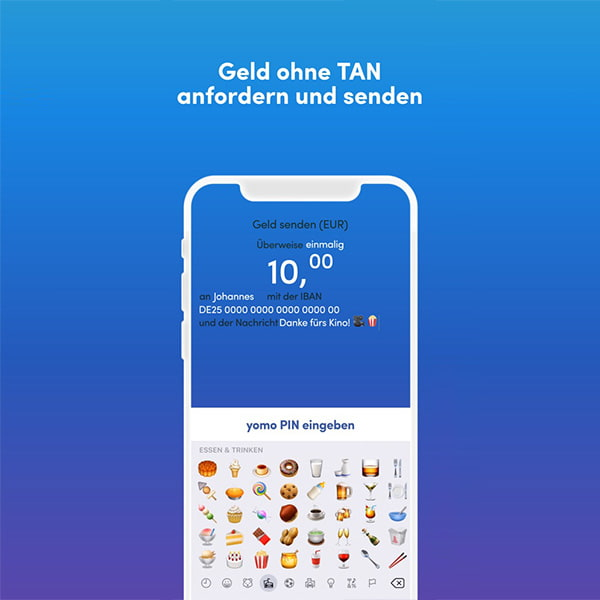 yomo send money UX Emoji interface natural language