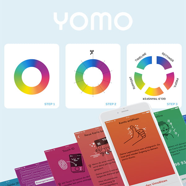 yomo color usage UX concept